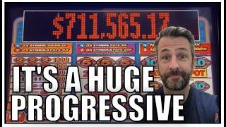 I've never seen a progressive SO BIG on the Bonus Times Slot Machine!! I had to play it!