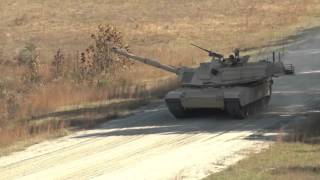 Lieutenants Conduct Abrams Live Fire Training