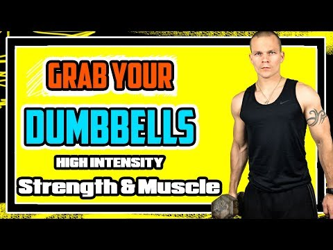 BEST DUMBBELL WORKOUT FOR MUSCLE GROWTH & STRENGTH 🔥🔥🔥 Upper and Lower Body  Workout Video [2018]