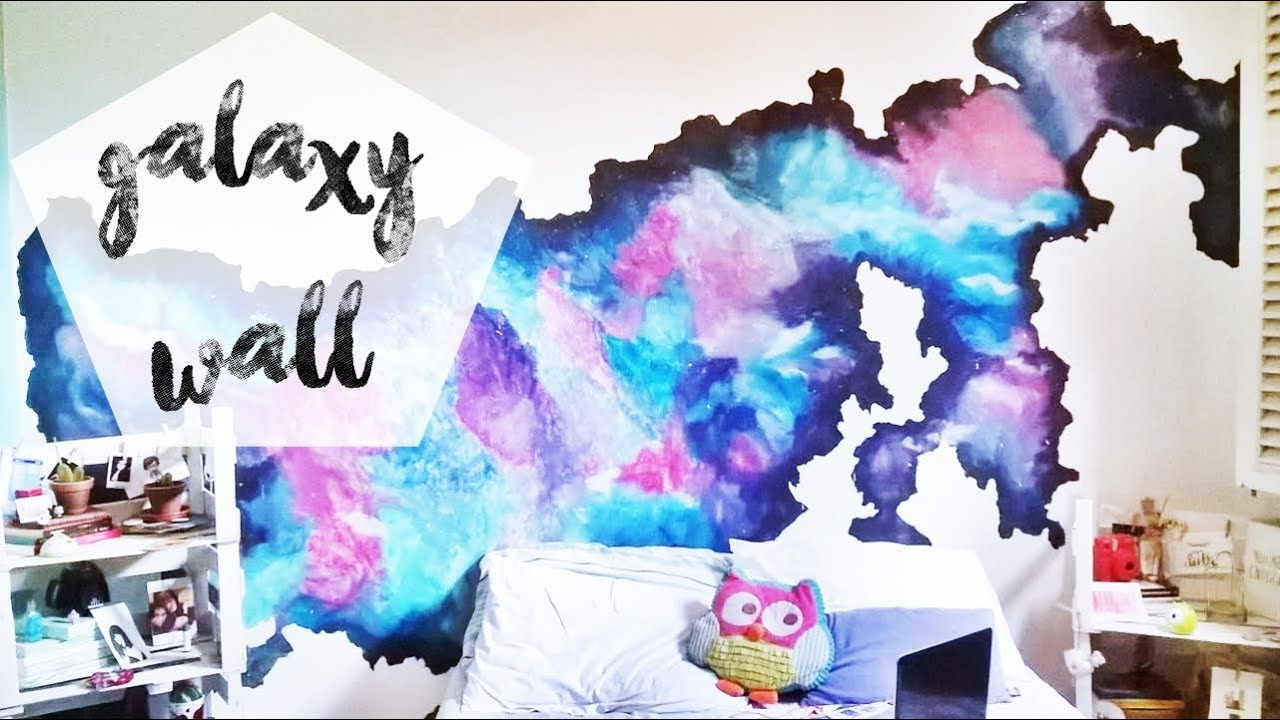 How I Painted My Galaxy Wall Youtube