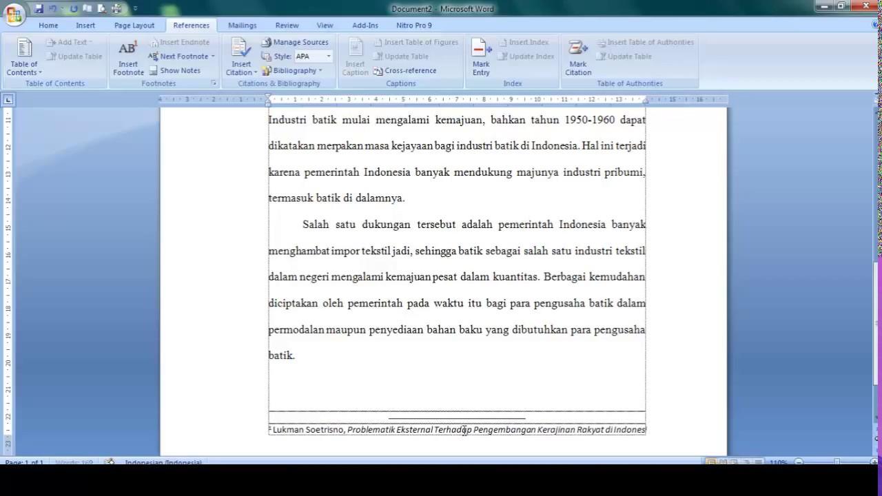 Cara Memberi Dan Mengatur Catatan Kaki Footnote Di Microsoft Word