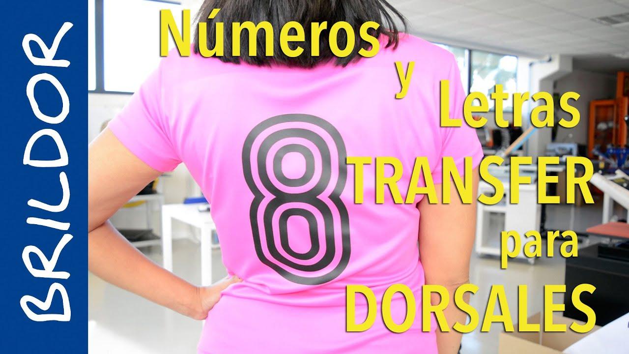 N meros y letras para dorsales youtube for Donde venden vinilos para pared
