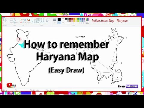 How to remember Haryana Map l Indian States l LearnByArts
