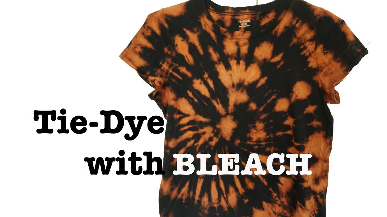 Bleach dyed shirt