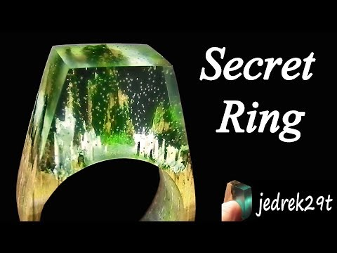 How to make SECRET WOOD RING. DIY