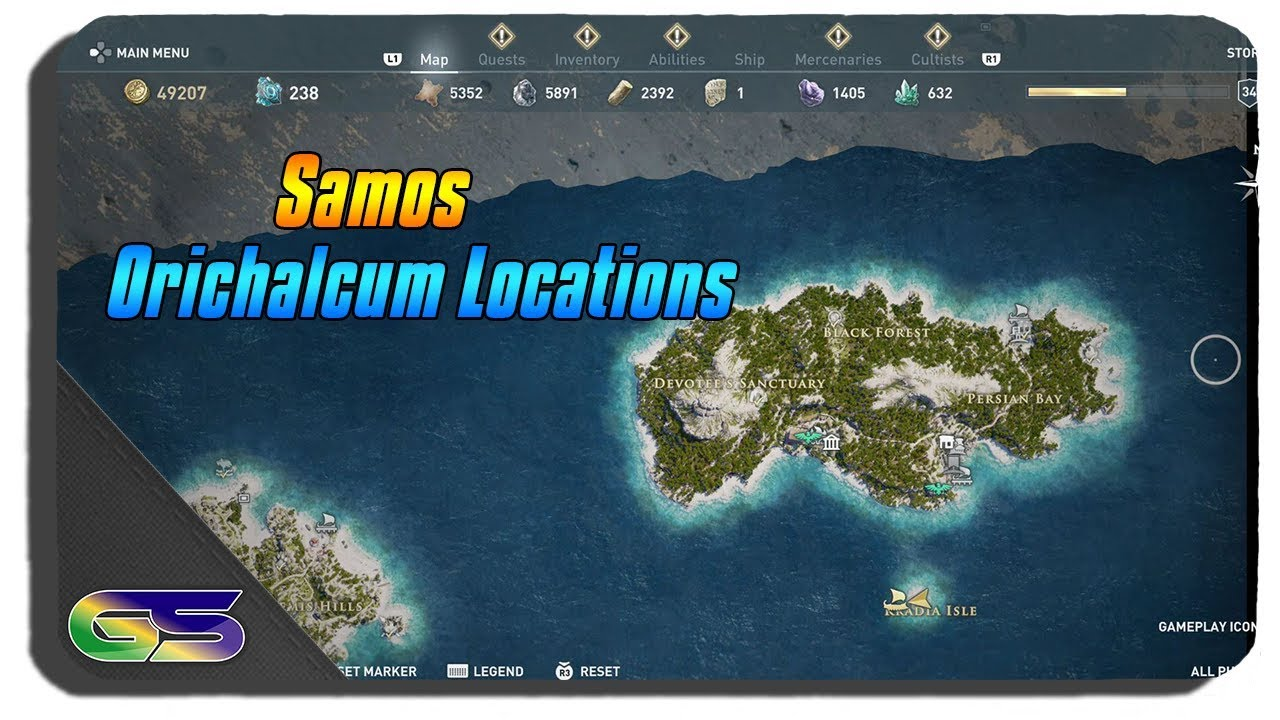 Assassins Creed Odyssey All Samos Orichalcum Locations Youtube