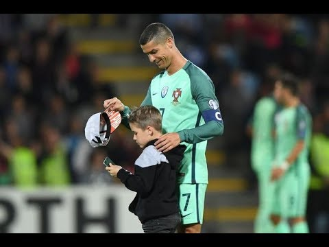 Cristiano Ronaldo and the kid . Portugal vs Latvia * Respect *