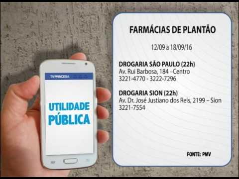 (JC 12/09/16) Farmácias de plantão