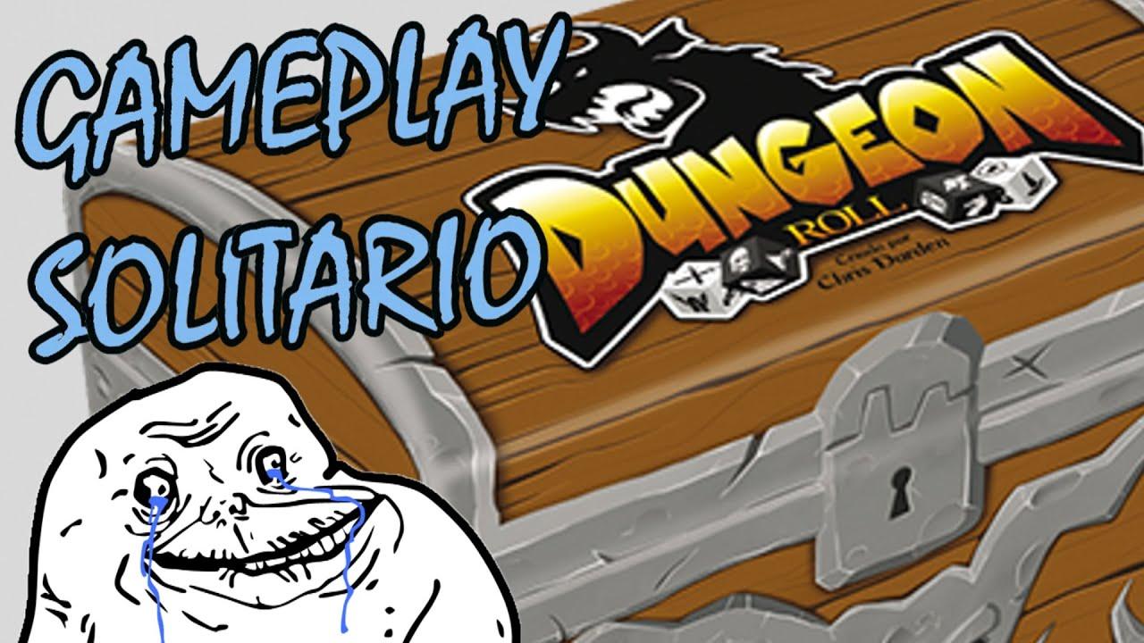 Dungeon Roll Juego De Mesa Gameplay Solitario Youtube