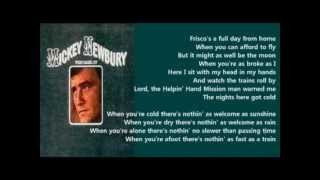 Mickey Newbury - Frisco Depot ( + lyrics 1971)