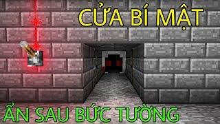 Cách Làm Cánh Cửa Bí Mật Sau Bức Tường (100% Redstone) - Minecraft PE