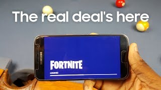 Official Fortnite for Android on the Galaxy S7 | How to Download & Gameplay