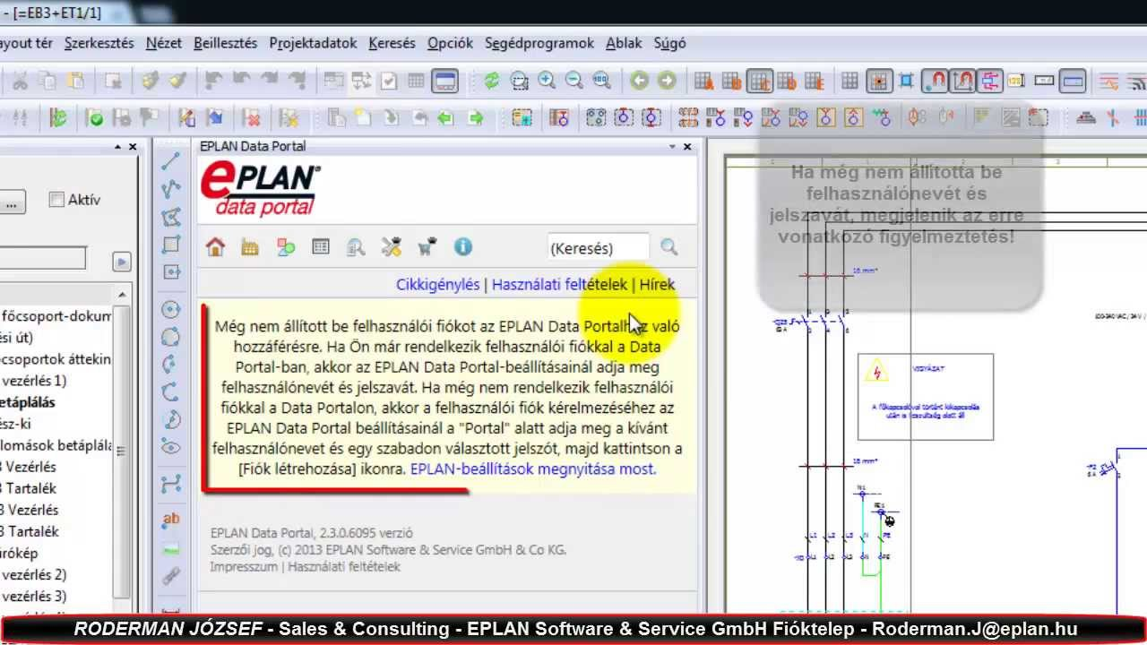 eplan data portal regisztr ci youtube