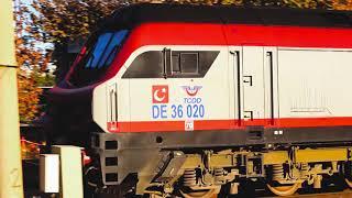 TCDD De 24000 ve De 36000 Yakıt treni Afyonkarahisar Gara girişi (Konya Yönünden)