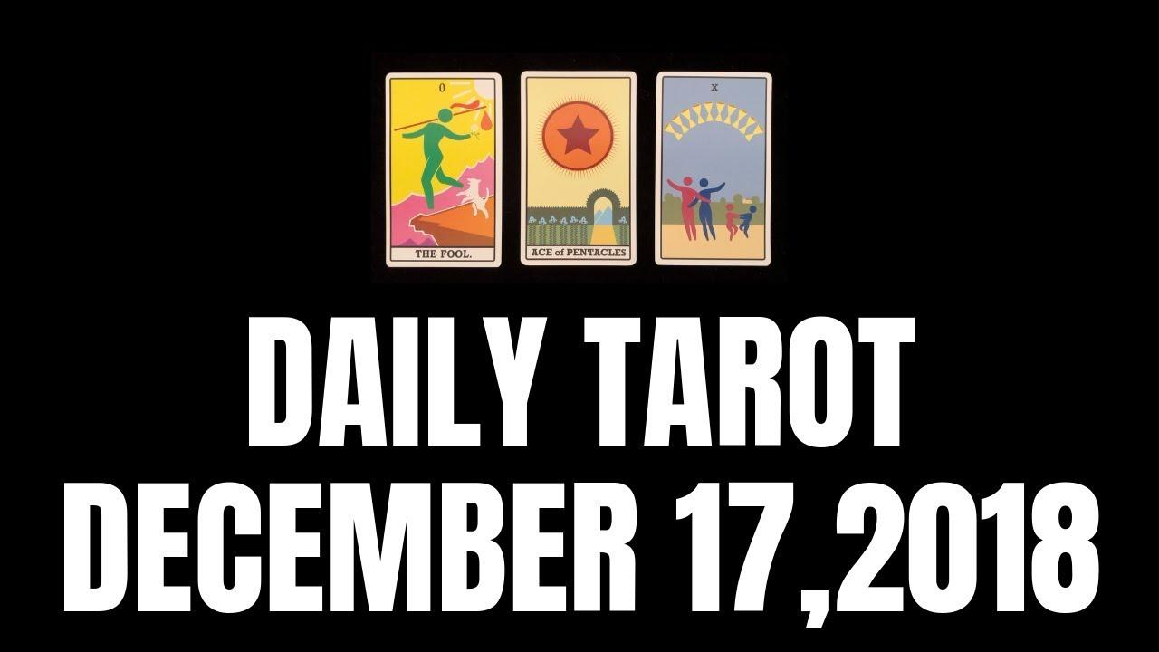 daily tarot reading december 17 2019