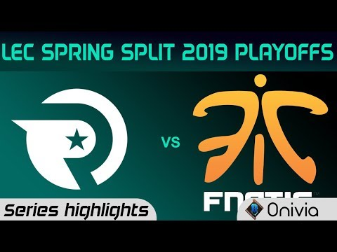 OG vs FNC Highlights All Games LEC Spring 2019 Playoffs Origen vs Fnatic LEC Highlights By Onivia