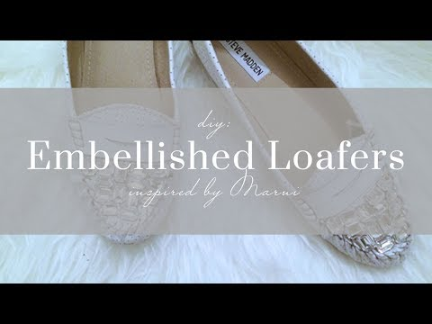 DIY Crystal Loafers
