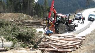 Case Puma 165 mit Forstkran - Harvester / Forestcrane with Harvester / Rückfahreinrichtung
