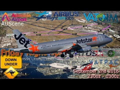 FSlabs A320 flies VATUSA FNO DownUnder from Adelaide to Sydney