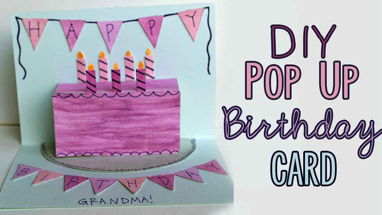 Diy Pop Up Birthday Card 🎂 Youtube