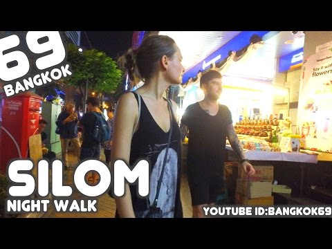 Bangkok Night walk in Silom