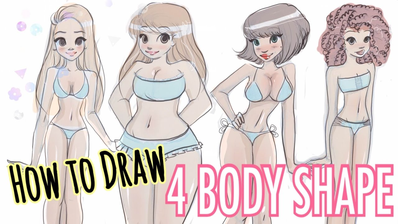 How To Draw 4 Different Body Shapes Youtube