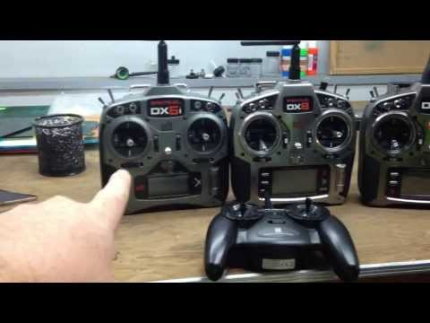 Quick Spektrum TX comparison (DX6i, DX8 and DX9) with DX9 Tips