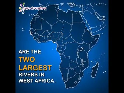 Nigeria Facts #5 - Rivers Niger and Benue.