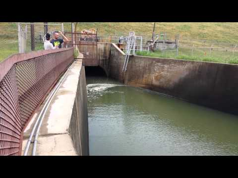 Lewisville Lake Dam Spillway At 55-feet