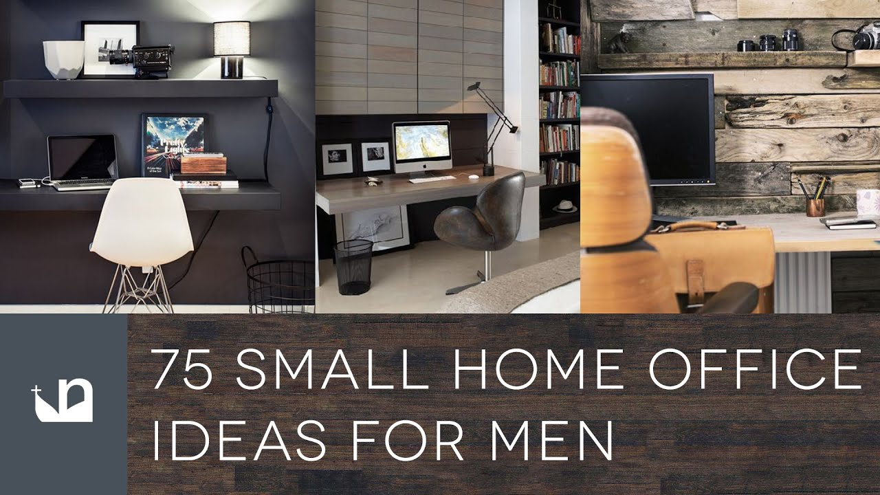 75 Small Home Office Ideas For Men   Design Inspiration   YouTube