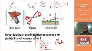 AYT Fizik Tüm Konular Genel Tekrar Soru Çözümü - 2