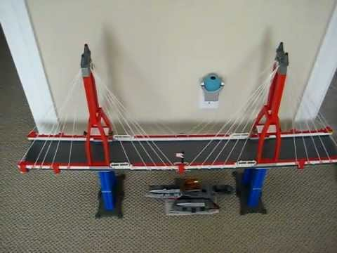 lego suspension bridge youtube