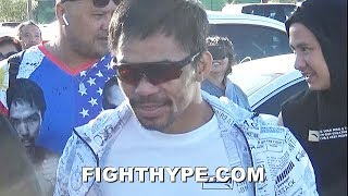 PACQUIAO BOSSES INTO FINAL MORNING WORKOUT FOR THURMAN CLASH; READY TO WALK IT LIKE HE TALK IT