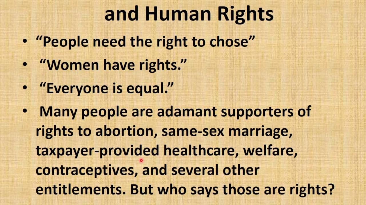 International Human Rights Principles