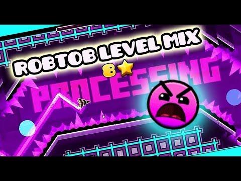 Geomentry Dash [2.0]- Robtop level Mix || Pobando mi texture pack MLG!!