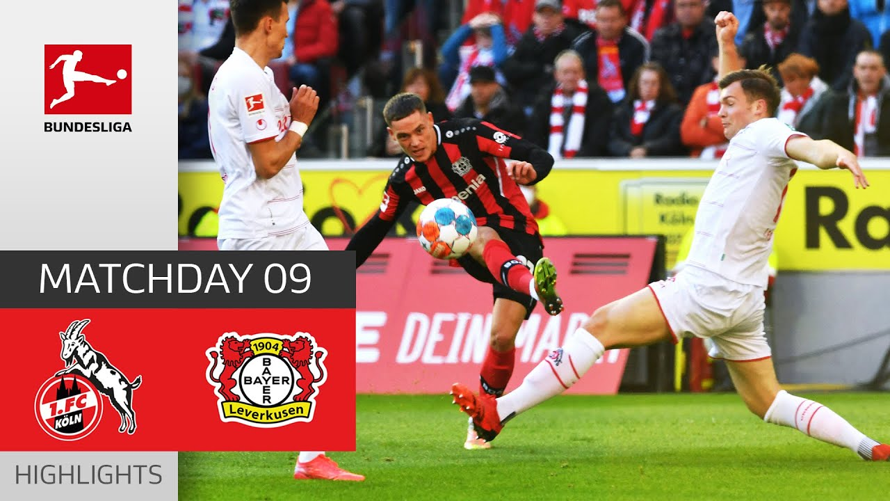 1 FC Kln  Bayer 04 Leverkusen 22  Highlights  Matchday 9  Bundesliga 202122