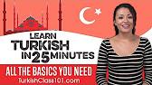 Learn turkish turkish in three minutes greetings youtube 2622 m4hsunfo