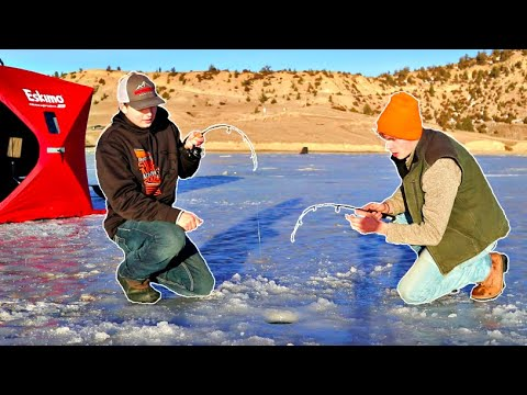 First Time ICE FISHING In WYOMING