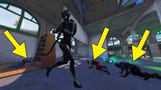 Solo Squads using the BLACK LYNX Skin in Fortnite!