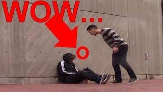 Rich Teen Spits On Homeless Man!