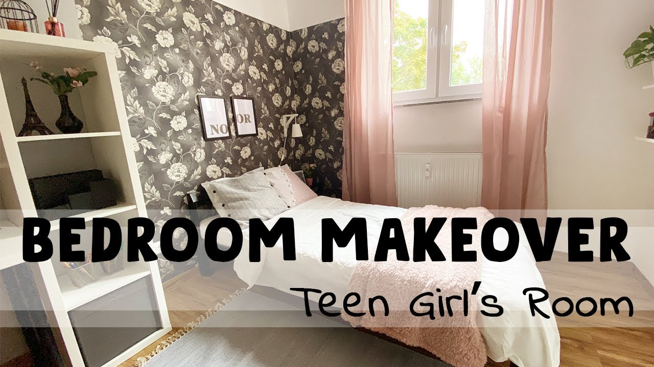 Teen Girl Bedroom Makeover Diy Ikea Low Budget Transformation Diy Books Ledge Diy Wall Sconce Youtube
