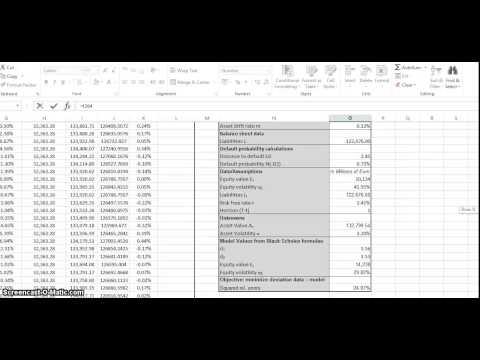 Merton Model Using Loeffler & Posch In Excel