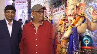 Satish Kaushik With Jayantilal Gada Visited Andheri Cha Raja For Darshan