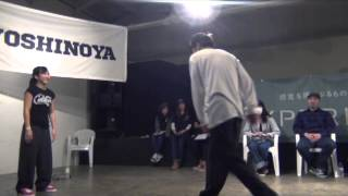 Miei (Dual Tight) vs RYU (Coolio) SEMI FINAL② / DANCE@LIVE FREESTYLE  HOKURIKU 2015