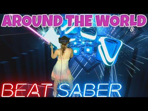 Beat Saber    ATC – Around the World (la la la la la) Expert    Mixed Reality indir