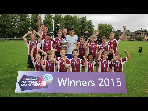 Alastair Cook attends NatWest U13 National Club Championship Finals