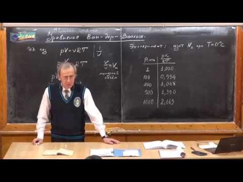 Урок 194. Уравнение Ван-дер-Ваальса