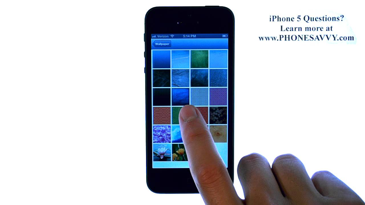 Apple iPhone 5 - iOS 6 - How do I Change the Wallpaper - YouTube