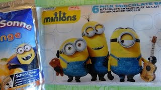 2015 Minions Chocolate Bars + Fun Activity Card Surprise & Minion Drink 迷你小兵 Sorpresa