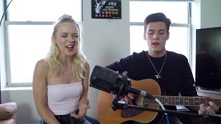 Gambar cover Shallow (A star is Born) - Lady Gaga + Bradley Cooper (Live Cover by Nate Hill and Madilyn Bailey)